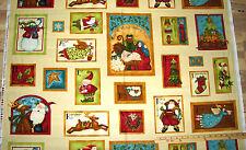 "Nativity Angel Santa Tree Favorites Benartex Christmas Fabric Panel 23""  #02360"