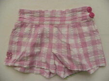 ROXY KIDS  BOTTOMS SZ 5 GRAPE JELLY PINK PLAID SHORTS