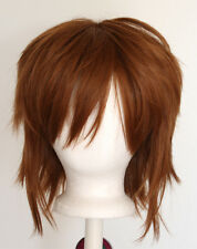 13'' Shaggy Messy w/ Long Bangs Auburn Brown Visual Kei Cosplay Wig NEW