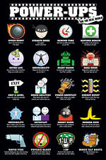 VIDEO GAME POSTER Power Ups For The Real World