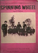 Spinning Wheel Words and Music by David Thomas Blood Sweat & Tears Sheet Music