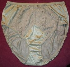 3 Pair Moka Size 9 Nylon High Cut Brief Panties Sexy Lace Made in USA