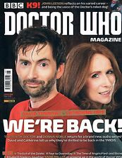 Doctor Who Magazine #498 Tennant & Tate are back! K9 Interviews Comics News 2016