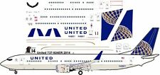 United Boeing 737-900ER decals for Revell 1/144 kit