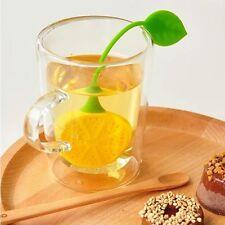 Divertido colador para te o infusiones en forma de limón o fresa en silicona