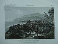 1845 Zuccagni-Orlandini Veduta della Città di Sorrento nella Provincia di Napoli
