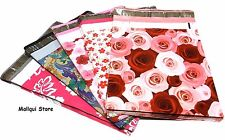25 MIX 5 FLOWERS DESIGNER 10X13 MAILER POLY MAILING SHIPPING BAGS Des: 1,2,3,4,5