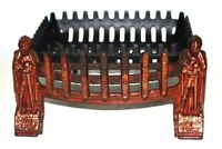 Antique Fireplace Cast Iron Fret Guard and Fire Basket [6677]