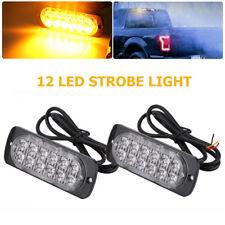 2 Stück 12 LED 12-24V Auto LKW Blitzlichter Blinklicht Warnung Notfall Blinkende