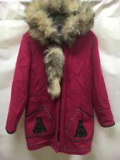 Vintage James Bay Virgin Wool Parka Coat Inuit Purple Size 10 Eskimo