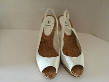 "Bakers High Heels Size 7 1/2 4"" Sling Back Hailey White Open Toe Womens"