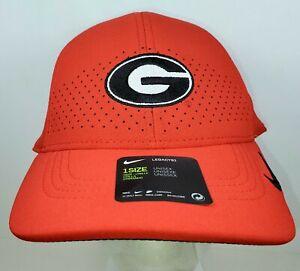 NEW Nike Aerobill Sideline Flex Fit Georgia Bulldogs Red Strapback Hat Cap