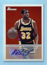 Magic Johnson 2009/10 Bowman 48 Firmas Autógrafo Auto