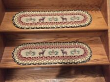 Deer and Pinecone Print Stair Tread
