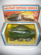 Vintage 1981  IMCO friction powered military vehicle tank toy with box