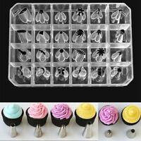 24PCS New Icing Piping Nozzles Tips Tools Cake Cupcake Sugarcraft Pastry Decor