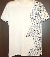 Bikkembergs White Shark Design Cotton Men's T-Shirt Shirt Sz XL NEW