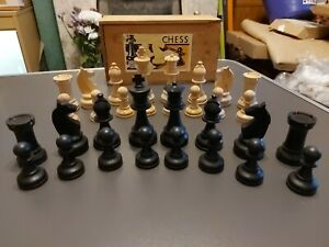 Splendid Vintage Chess Set By K&C, London - King 9cm