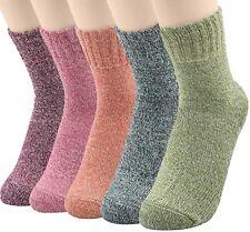 5 Pares de Calcetines para mujer de LANA de casimir gruesa cálida y suave causal Calcetín EE. UU. 6-11
