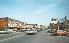 GREENFIELD, MA, MAIN STREET, CARS, WOOLWORTH STORE, SONOCO GAS STATION c 1960's