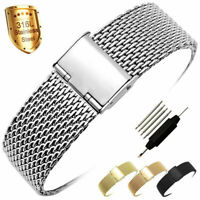 ZLIMSN Mesh Stainless Steel Milanese Watch Band Link Wrist Strap 20mm 22mm 24mm