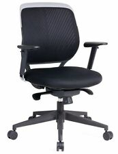 Home Task / Exec PU Leather Mesh Back Office Computer Chair Ergonomic Black Tilt