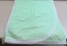Matouk John Vintage Twin Blanket Cover Green White  Swiss Dots & Lace USA Made