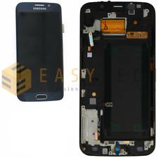 DISPLAY LCD + FRAME ORIGINALE SAMSUNG GALAXY S6 EDGE SM-G925F BLU SCURO NERO