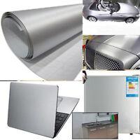 Brushed Aluminium Car Vehicle AUTO Air Drain Wall Table Vinyl Decal Wrap Sticker
