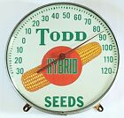 Todd Hybrid Seeds Corn Thermometer Bubble Glass Vintage