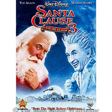 Disney Tim Allen Family Christmas Comedy The Santa Clause 3 Escape Clause on DVD