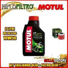KIT TAGLIANDO 2LT OLIO MOTUL 5100 10W50 HONDA CRF450 R-3,4,5,6,7,8 450CC 2003-20