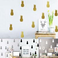 Qu_ 10Pcs Pineapple Decals Bedroom Kitchen Livingroom Decor Wall Sticker Natural