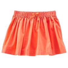 NUEVO oskkosh Naranja Brillante Suave Pana Falda Talla 7 YEAR Cintura Elástica