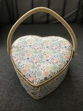 BN LOVE HEART SHAPED FABRIC SEWING CRAFT BOX