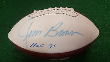Jim Brown Autographed  Wilson White Panel Football- PSA/DNA-TriSta Authenticated