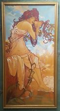 Alphonse Mucha 1860-1939 beautiful large 'summer' oil painting hand reproduction