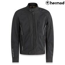 Belstaff Tower Mesh Textile Motorbike Motorcycle Jacket - Black