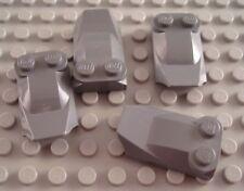 LEGO Lot of 4 Dark Bluish Gray 2x3x2/3 Lip End Car Truck Engine Brick Parts