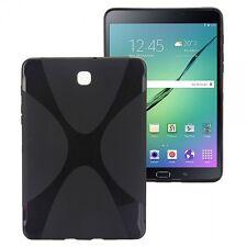 Silikonhülle Schwarz für Samsung Galaxy Tab S2 8.0 T710 T715N Hülle Case Tasche