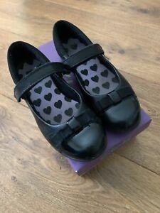 Clarks Girls Black Dance Shout Shoes Size 12.5 F EU 31