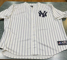 Majestic Pinstriped NEW YORK YANKEES Sewn Blank Jersey Size 3XL