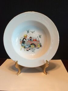 "Rare Eschenbach Germany ""Cinderella"" Rimmed Soup/Cereal Bowl"