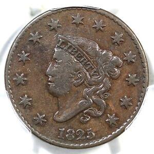 1825 N-1 R-4 PCGS VF 30 Matron or Coronet Head Large Cent Coin 1c