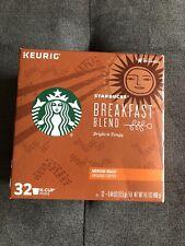Starbucks Breakfast Blend Medium Roast Single Cup Coffee for Keurig Brewers, 32