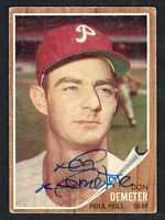Don Demeter #146 signed autograph auto 1962 Topps Baseball Trading Card