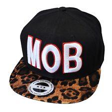 MOB Snapback Money Over Bitches Leopard Print Black Hip Hop Baseball Cap