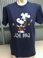 Peanuts Snoopy Medium Joe BBQ Dark Navy Blue Mens T-Shirt