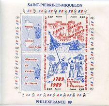 STAMP  / TIMBRE SAINT PIERRE ET MIQUELON BLOC N° 3 ** REVOLUTON FRANCAISE