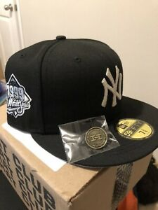 Hat Club Exclusive 7 3/8 AUX PACK VOL. 4 SILVER NY YANKEES 1999 WS Patch